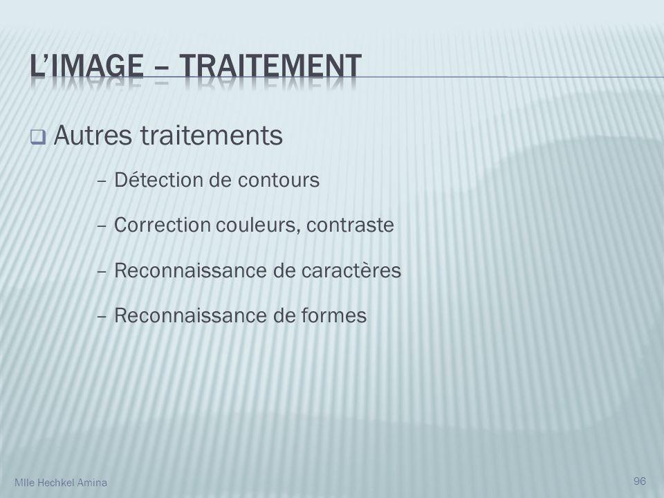L'IMAGE – Traitement Autres traitements – Détection de contours