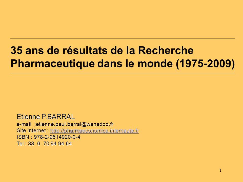 35 ans de résultats de la Recherche