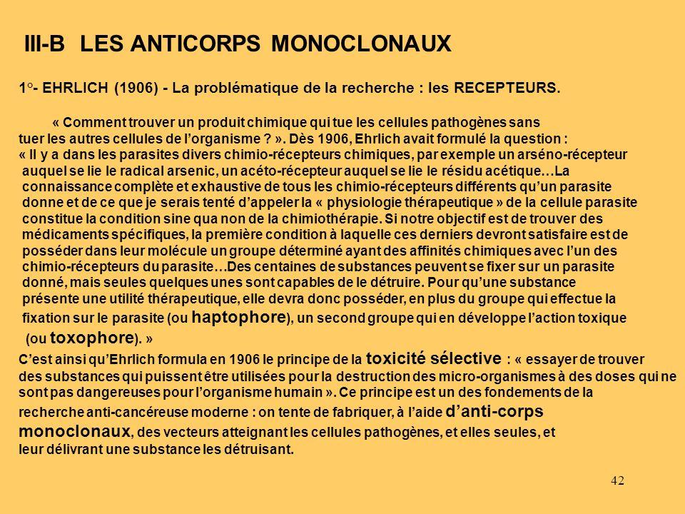 III-B LES ANTICORPS MONOCLONAUX