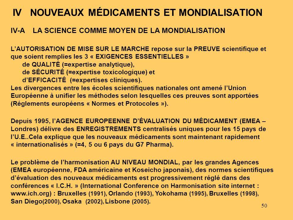 IV NOUVEAUX MÉDICAMENTS ET MONDIALISATION