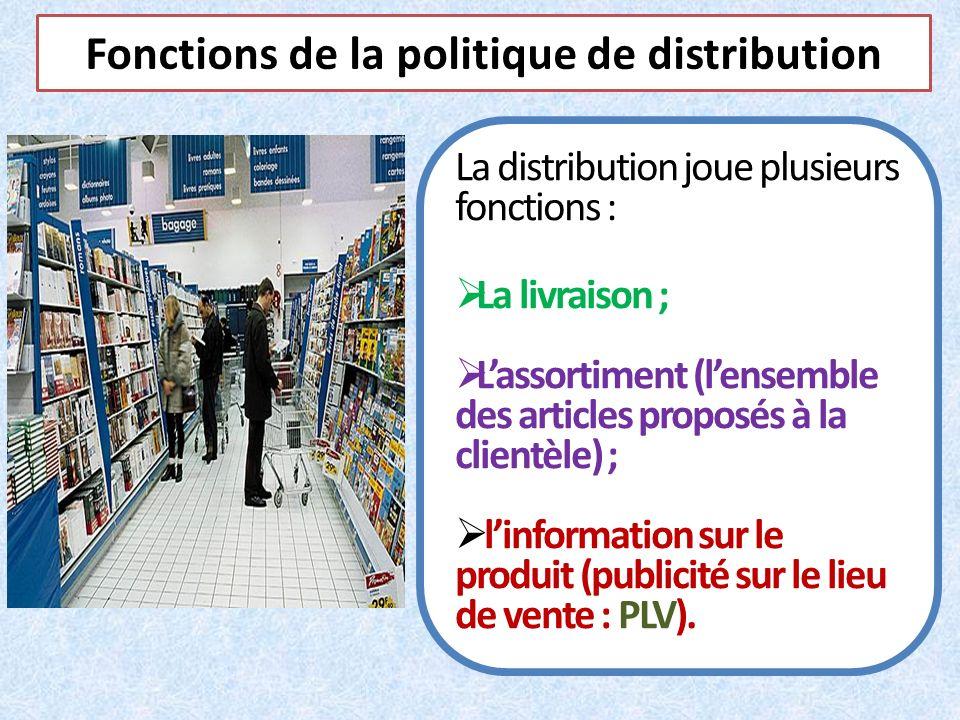 Fonctions de la politique de distribution