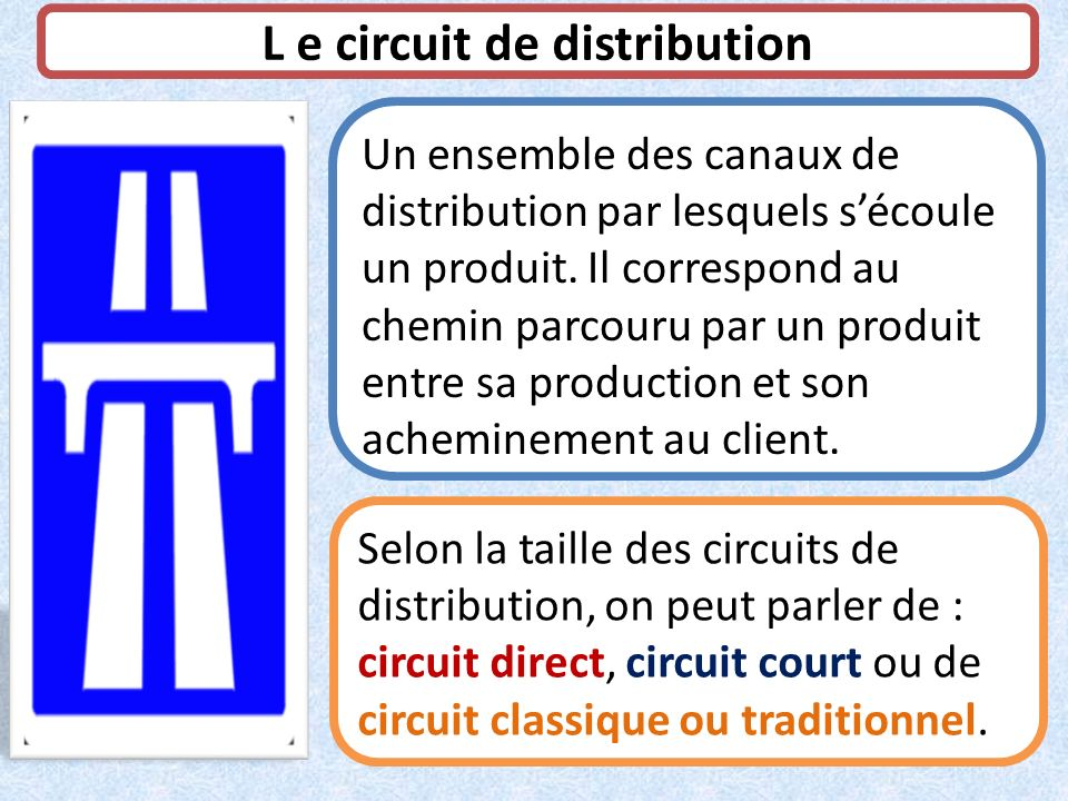 L e circuit de distribution