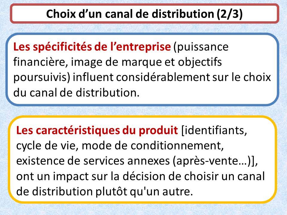 Choix d'un canal de distribution (2/3)