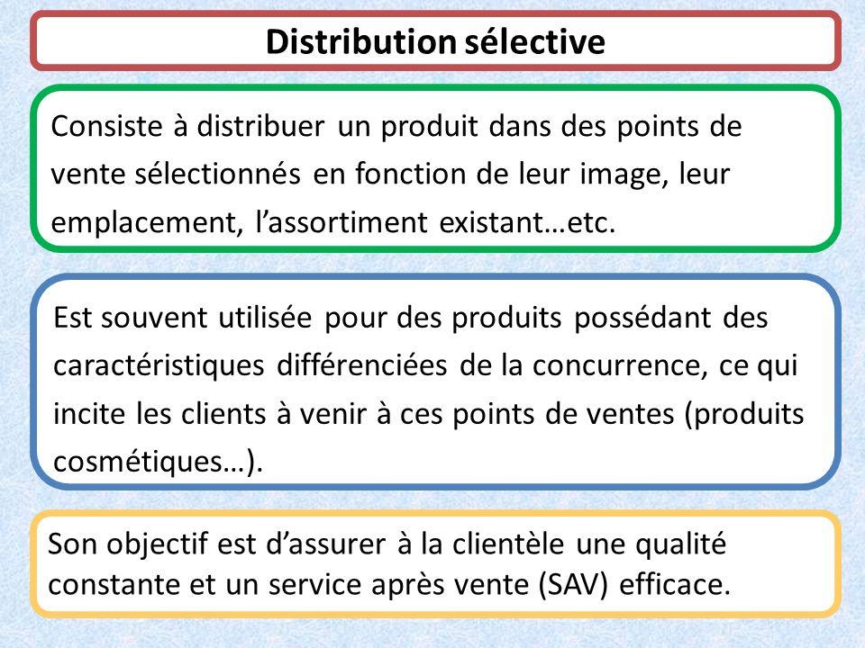 Distribution sélective