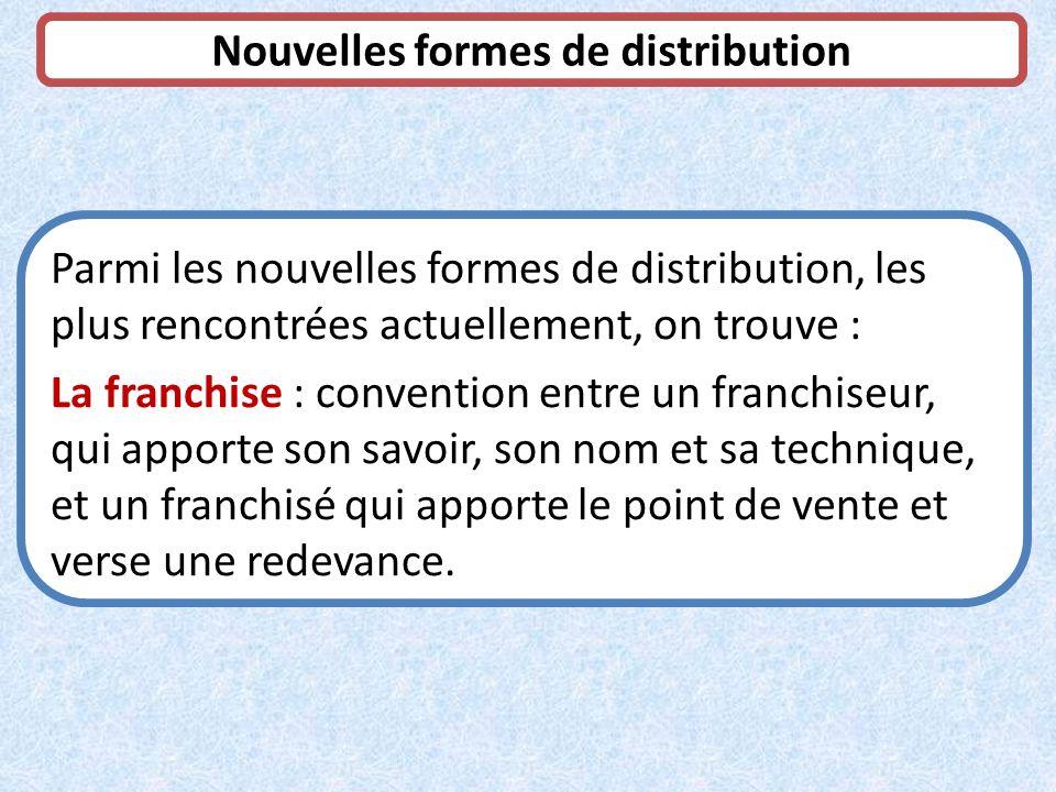 Nouvelles formes de distribution