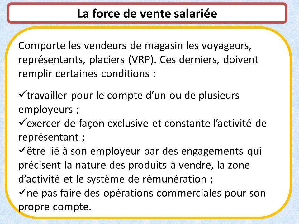 La force de vente salariée