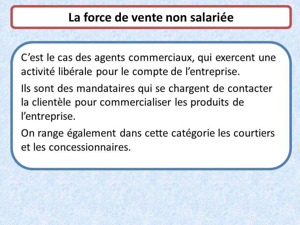 La force de vente non salariée