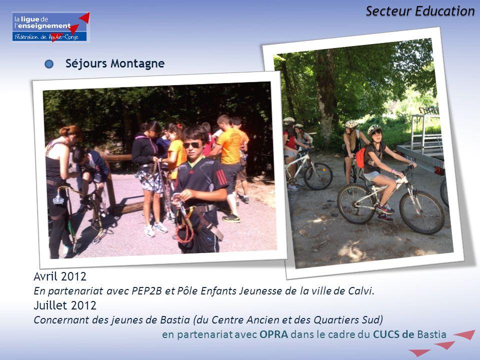 Secteur Education Séjours Montagne Avril 2012