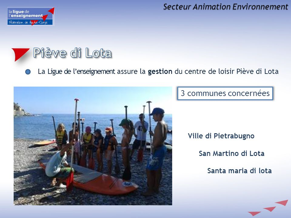Piève di Lota Secteur Animation Environnement 3 communes concernées