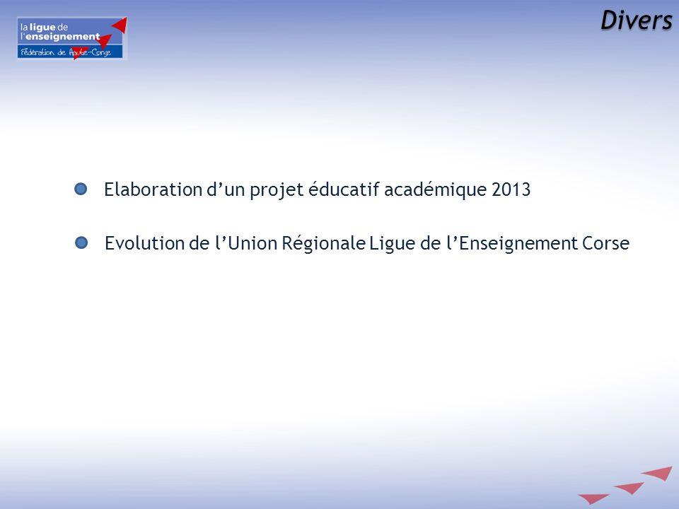 Divers Elaboration d'un projet éducatif académique 2013