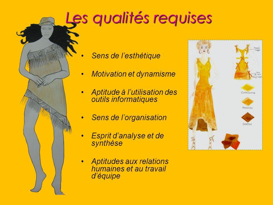 Les qualités requises Sens de l'esthétique Motivation et dynamisme