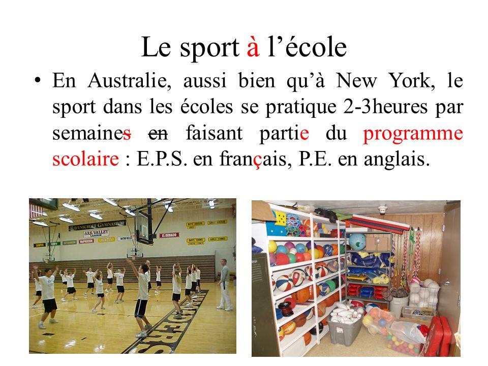 Le sport à l'école