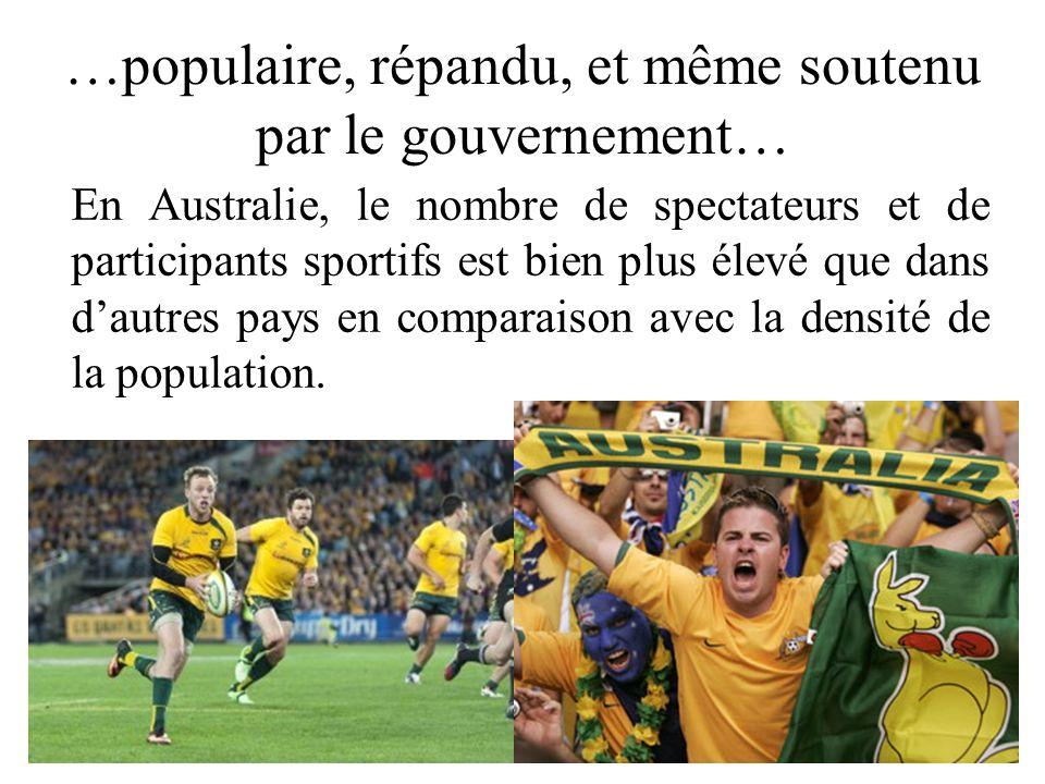 …populaire, répandu, et même soutenu par le gouvernement…
