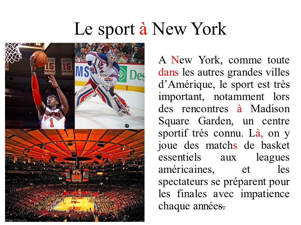 Le sport à New York
