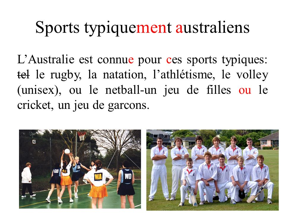 Sports typiquement australiens