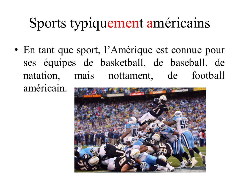Sports typiquement américains