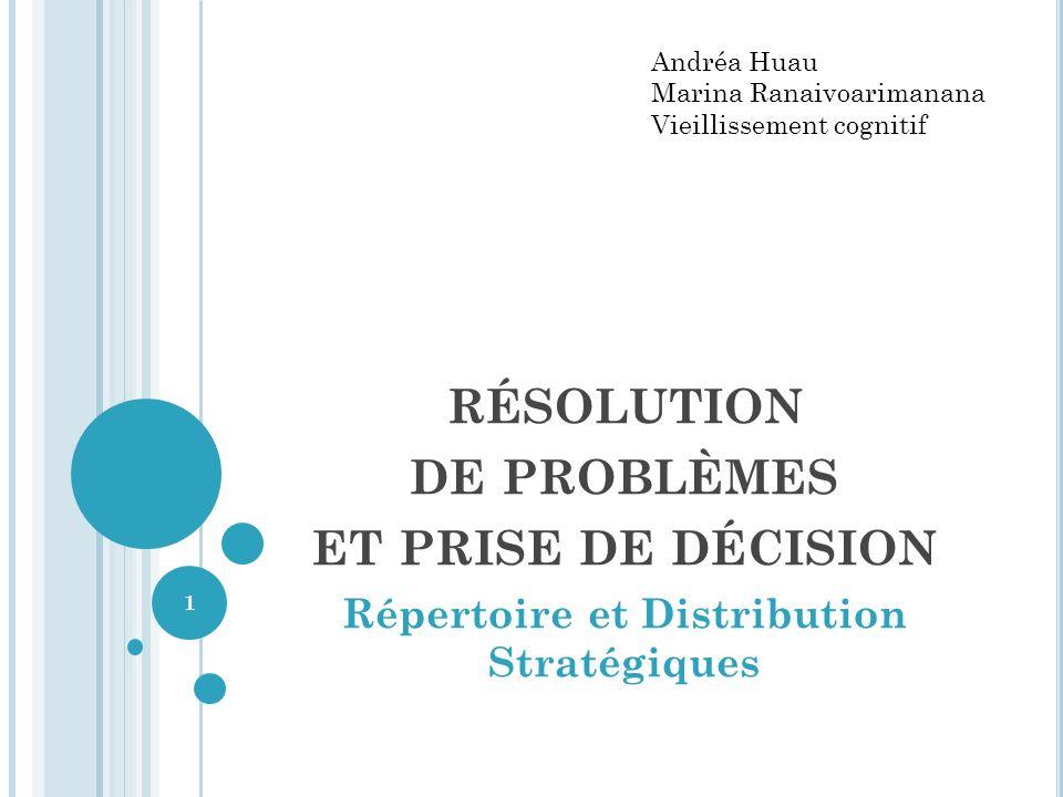 résolution de problèmes et prise de décision
