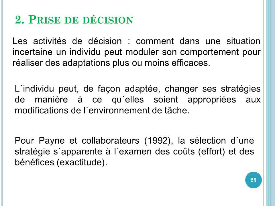 2. Prise de décision