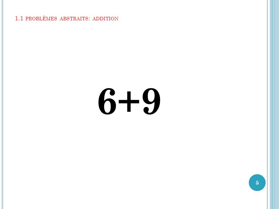 1.1 problèmes abstraits: addition