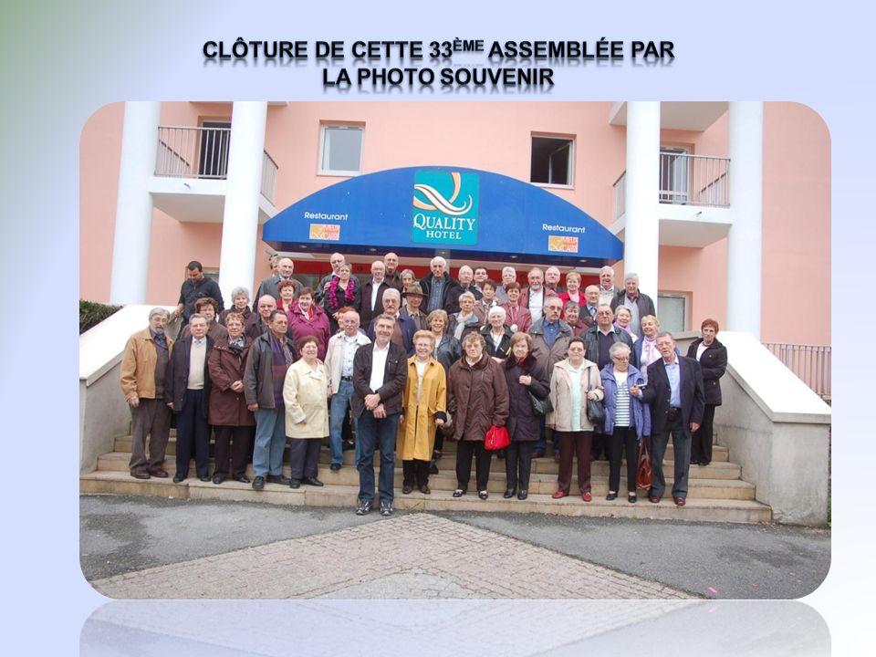 Clôture de cette 33ème assemblée par la photo souvenir