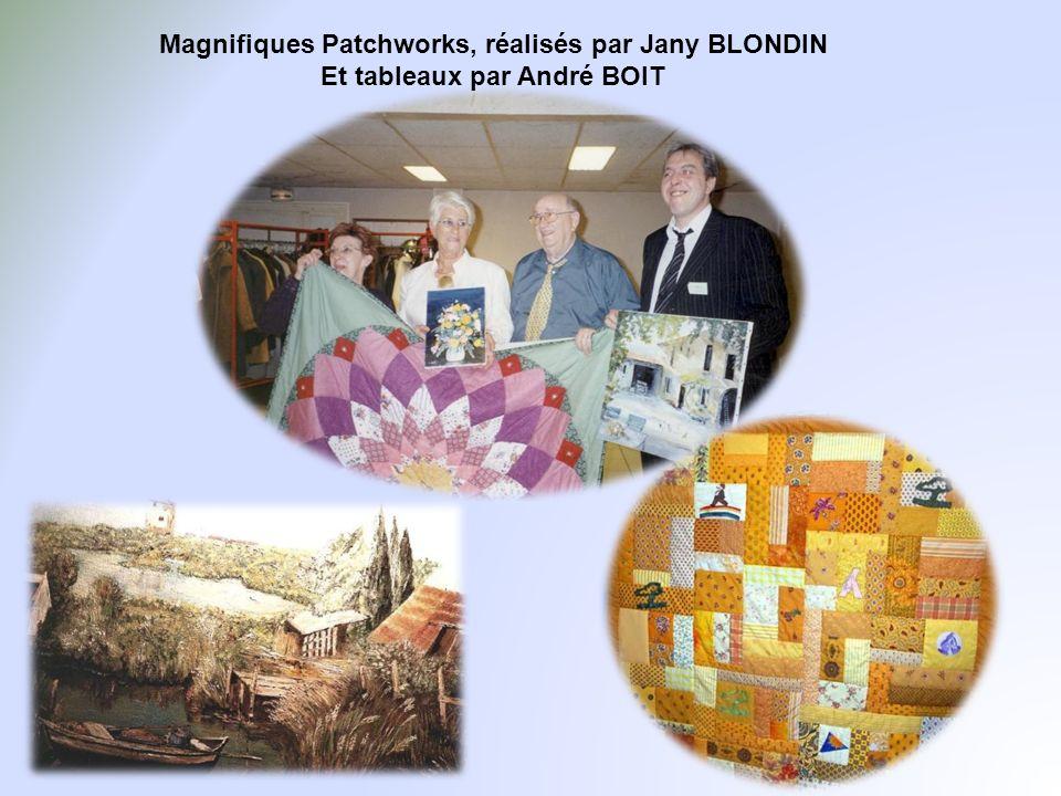 Magnifiques Patchworks, réalisés par Jany BLONDIN