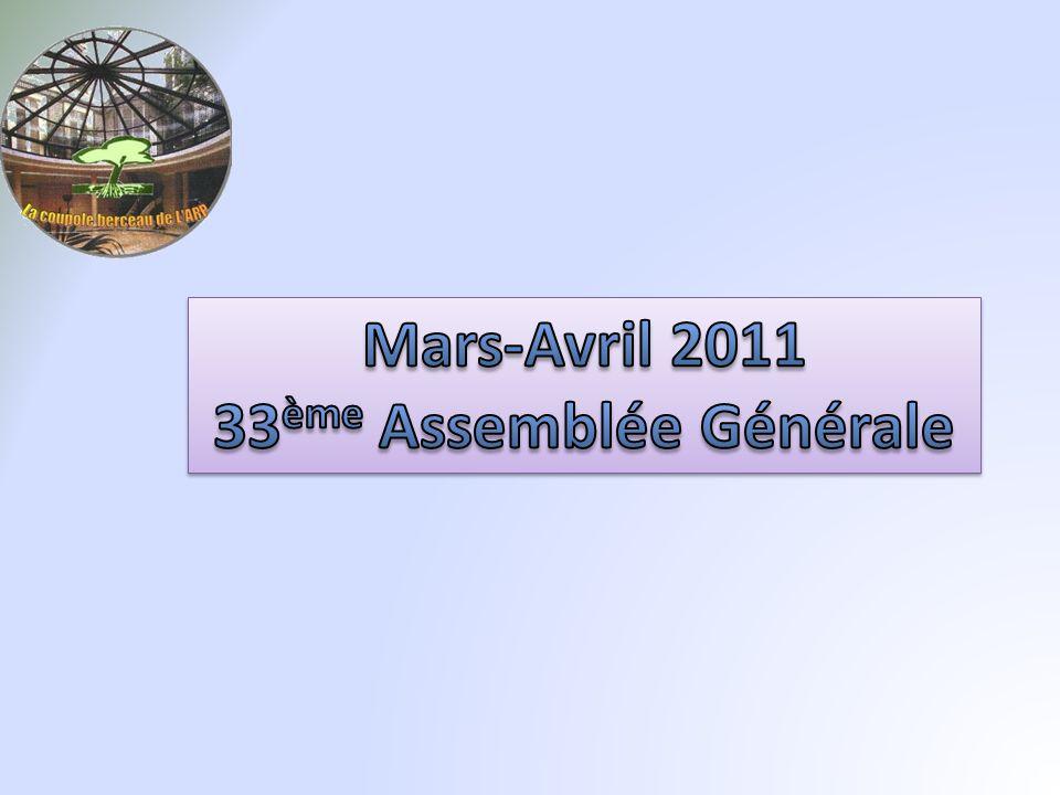 Mars-Avril 2011 33ème Assemblée Générale