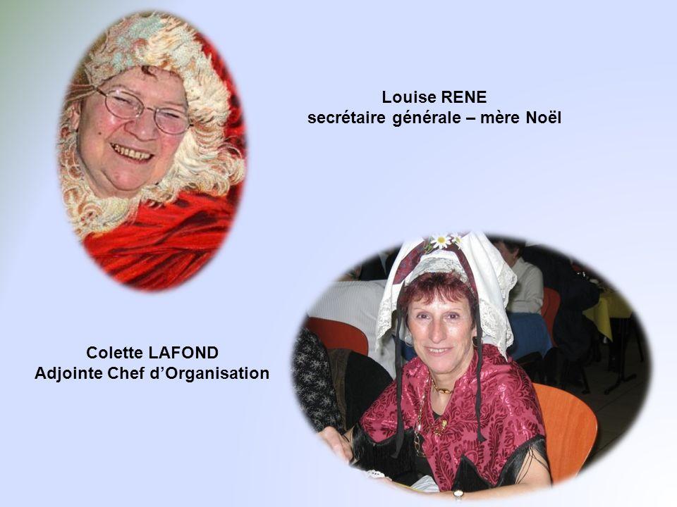Louise RENE secrétaire générale – mère Noël