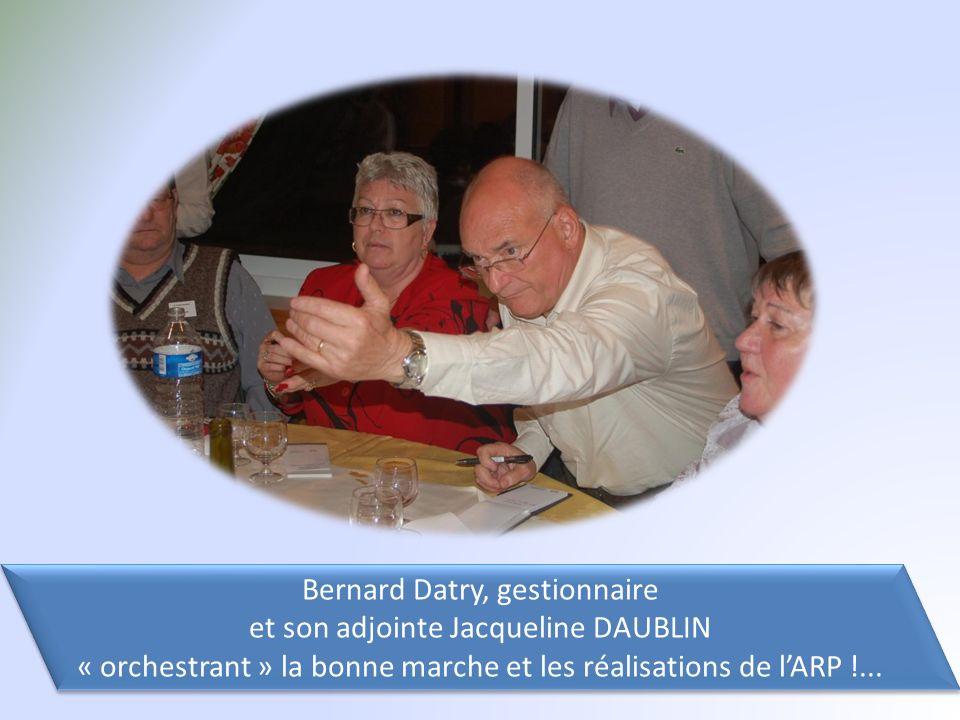 Bernard Datry, gestionnaire et son adjointe Jacqueline DAUBLIN « orchestrant » la bonne marche et les réalisations de l'ARP !...