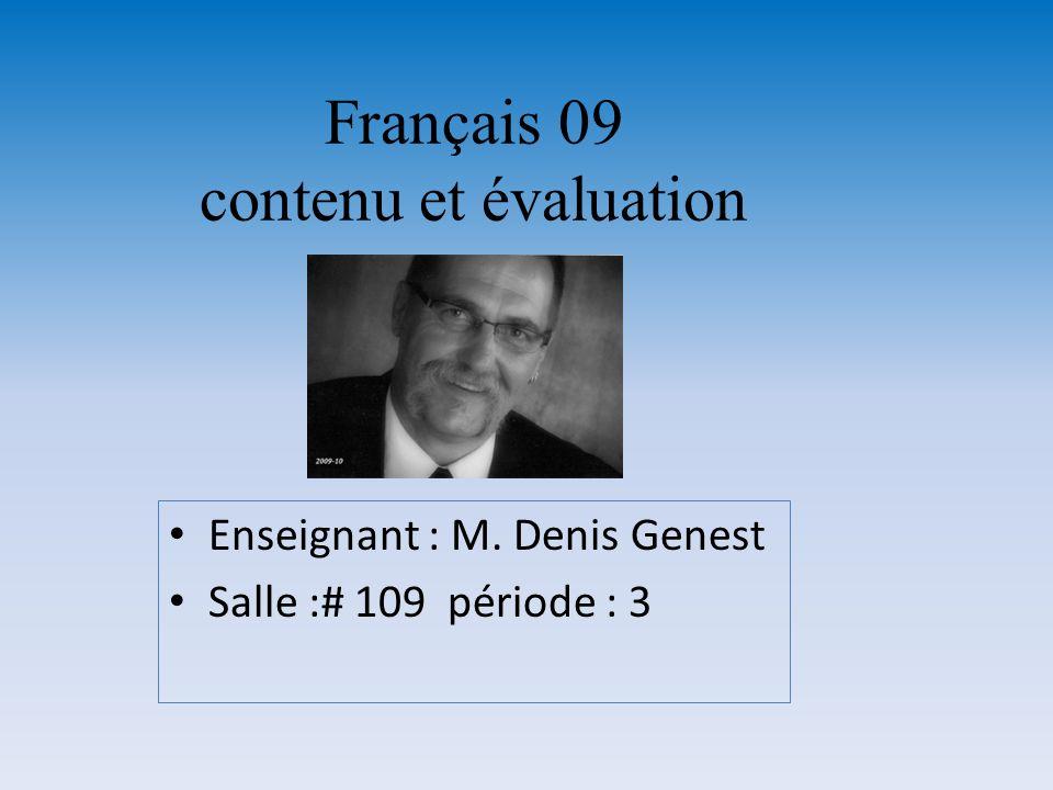 Français 09 contenu et évaluation