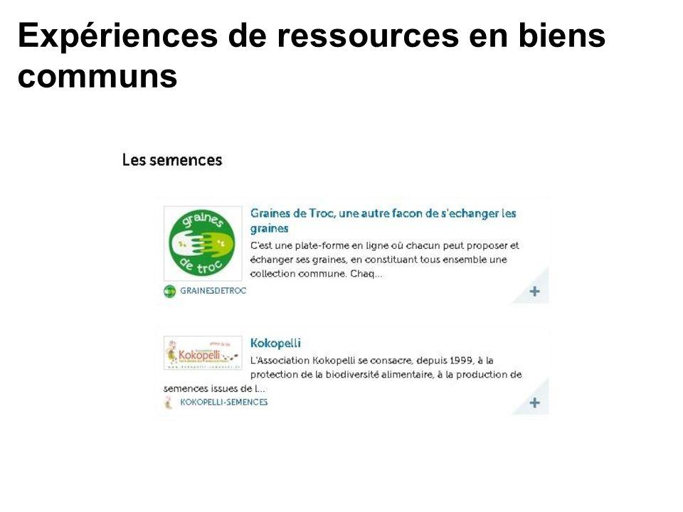 Expériences de ressources en biens communs