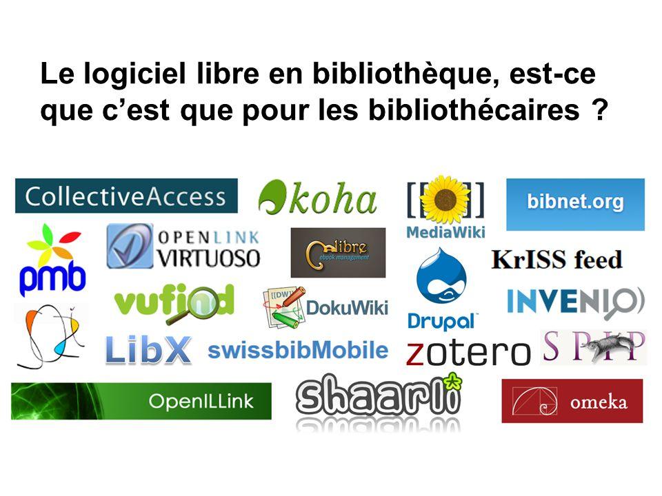 Le logiciel libre en bibliothèque, est-ce que c'est que pour les bibliothécaires