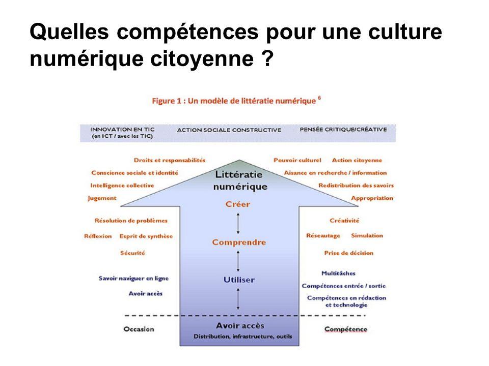 Quelles compétences pour une culture numérique citoyenne