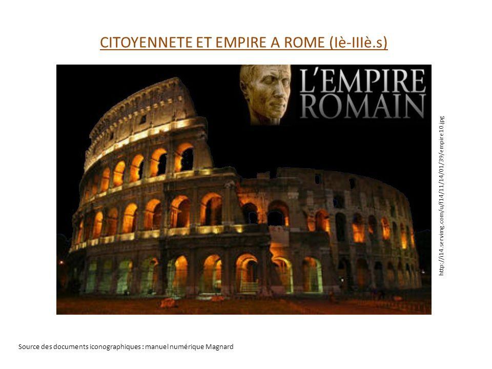 CITOYENNETE ET EMPIRE A ROME (Iè-IIIè.s)