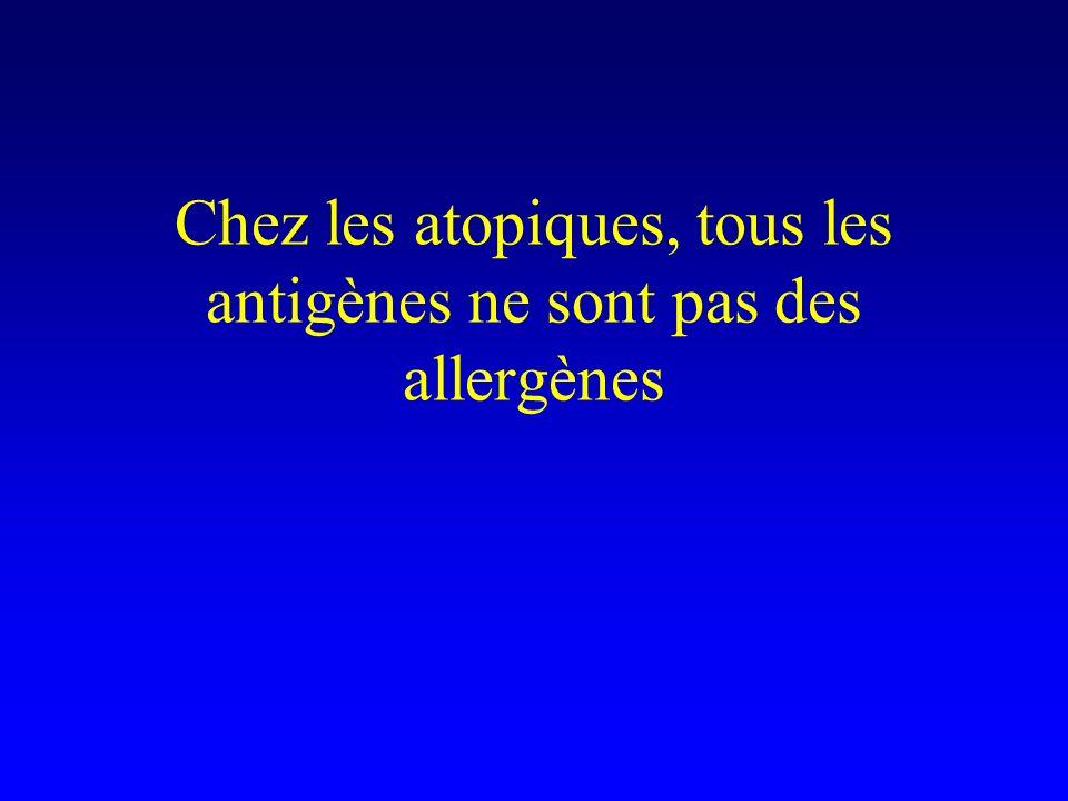 Chez les atopiques, tous les antigènes ne sont pas des allergènes