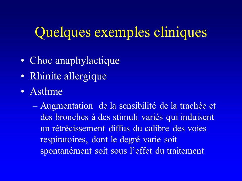 Quelques exemples cliniques