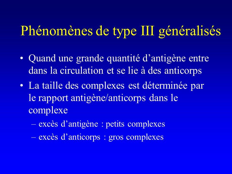 Phénomènes de type III généralisés