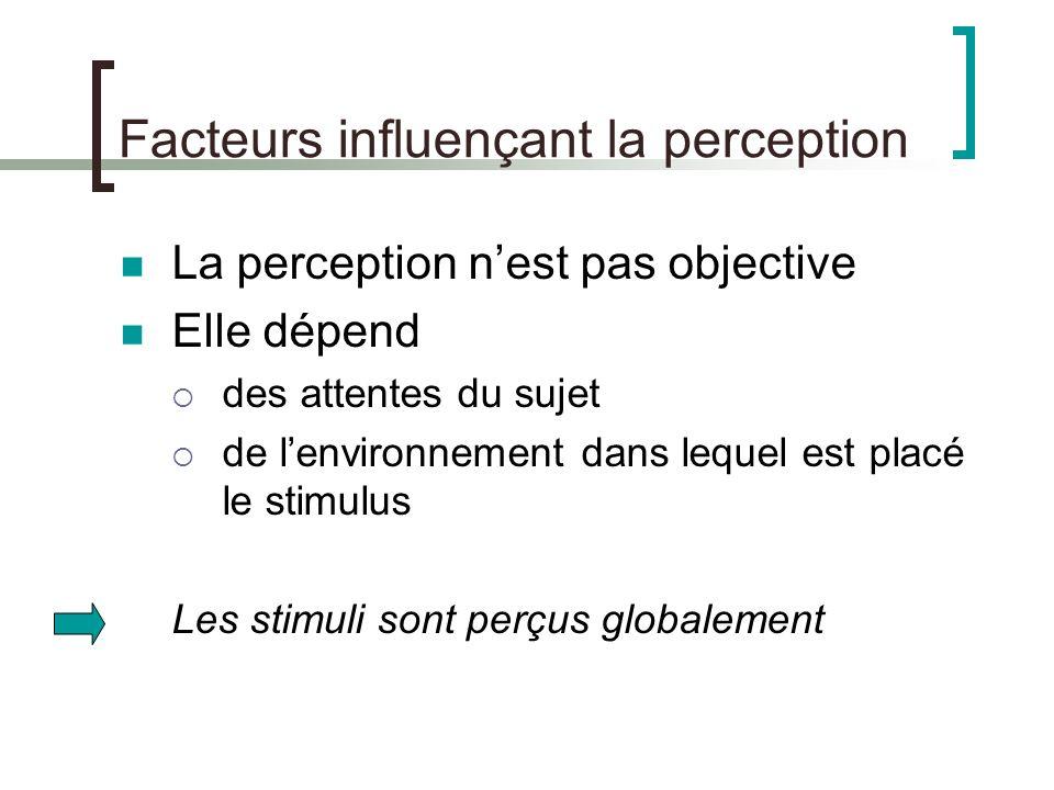 Facteurs influençant la perception