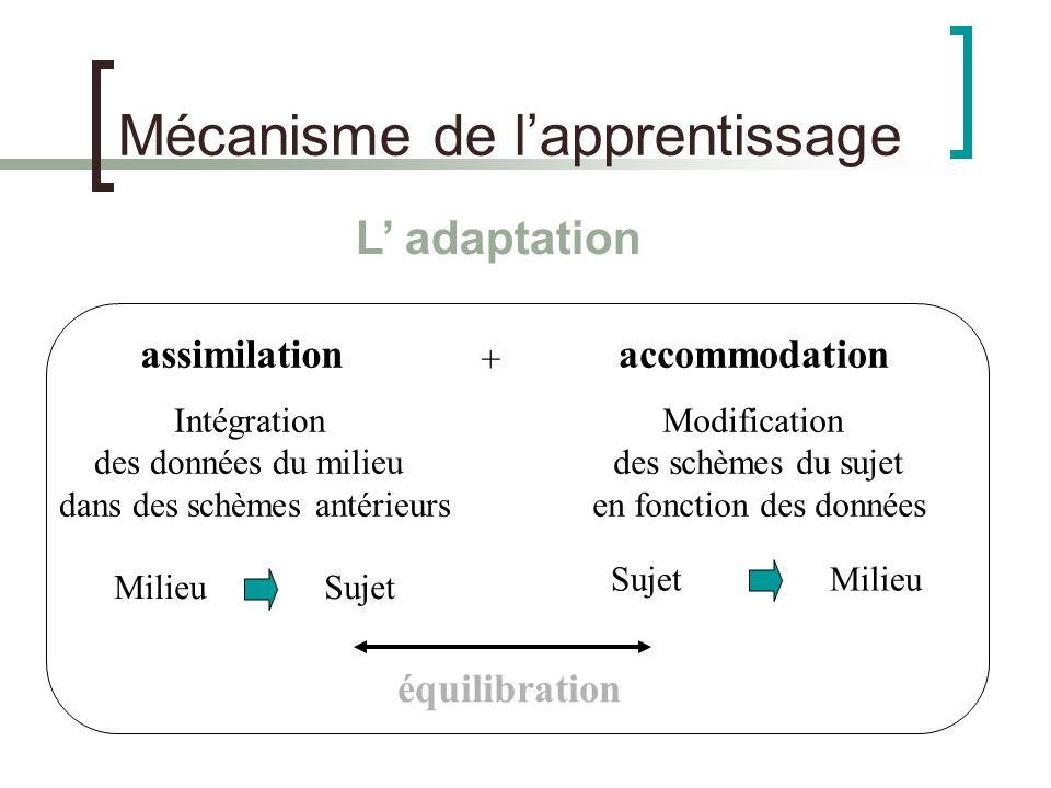 Mécanisme de l'apprentissage