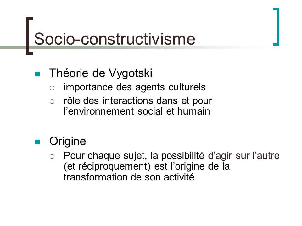 Socio-constructivisme