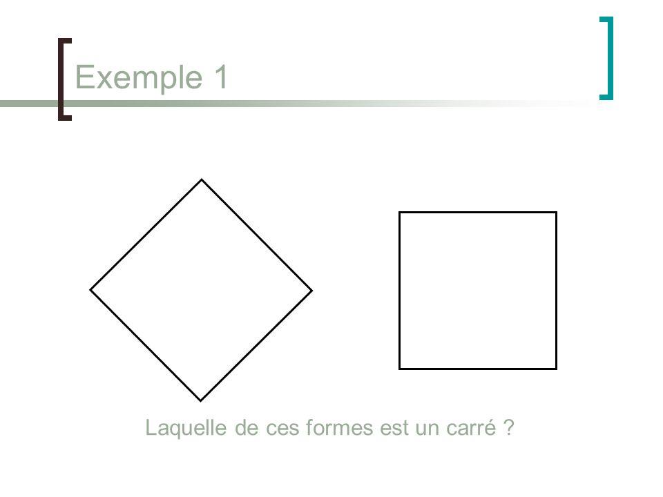 Exemple 1 Laquelle de ces formes est un carré