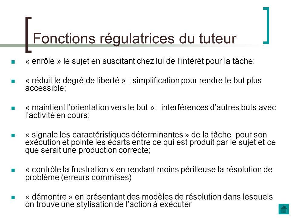 Fonctions régulatrices du tuteur