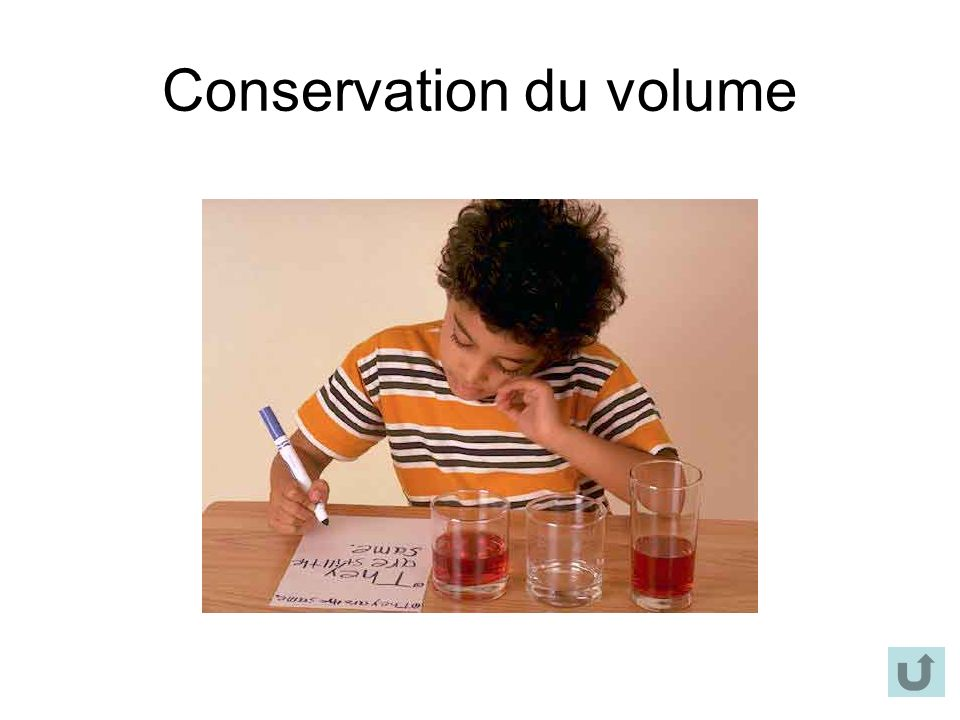 Conservation du volume