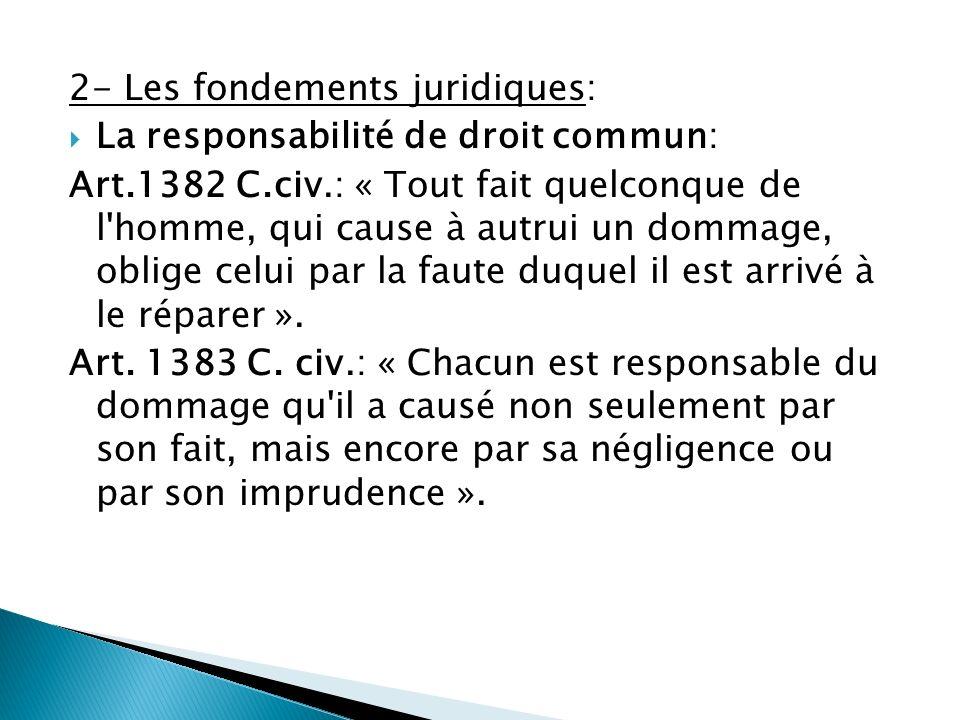 2- Les fondements juridiques: