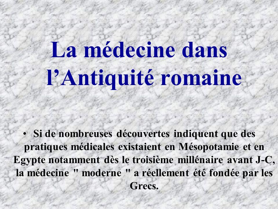 La médecine dans l'Antiquité romaine