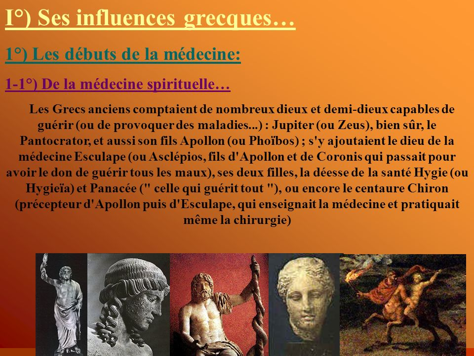 I°) Ses influences grecques…