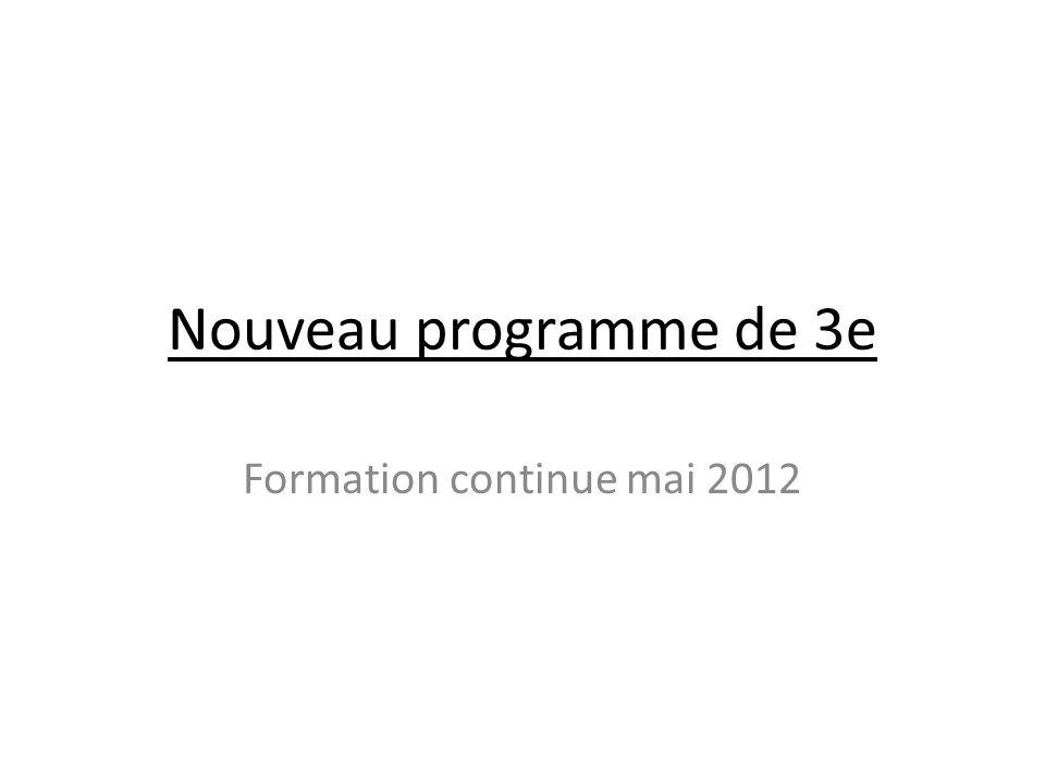 Formation continue mai 2012