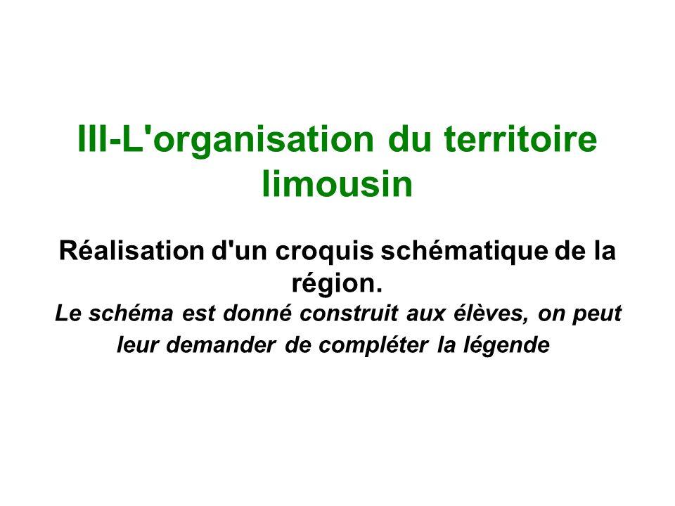 III-L organisation du territoire limousin