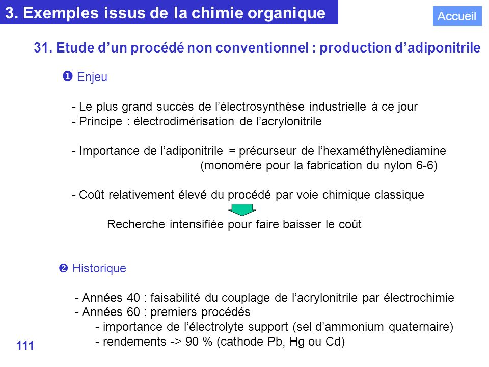 3. Exemples issus de la chimie organique