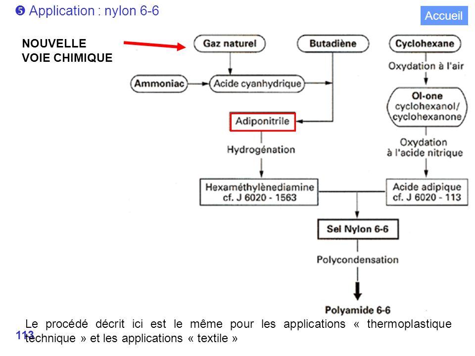  Application : nylon 6-6 Accueil NOUVELLE VOIE CHIMIQUE