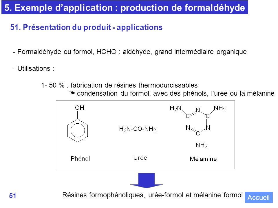 5. Exemple d'application : production de formaldéhyde
